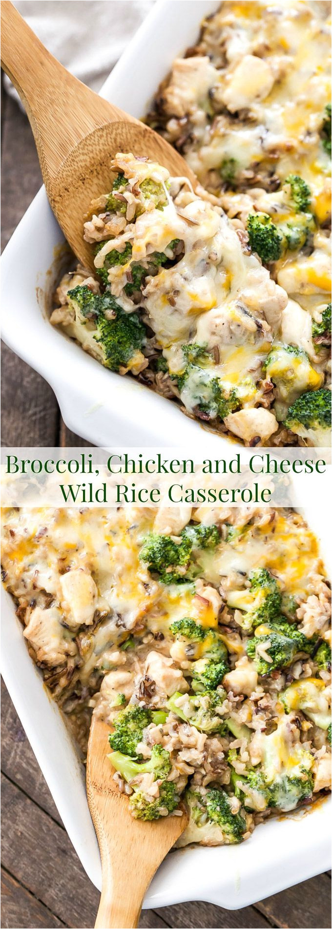 this broccoli chicken and cheese wild rice casserole is a healthy and delicious dinner that