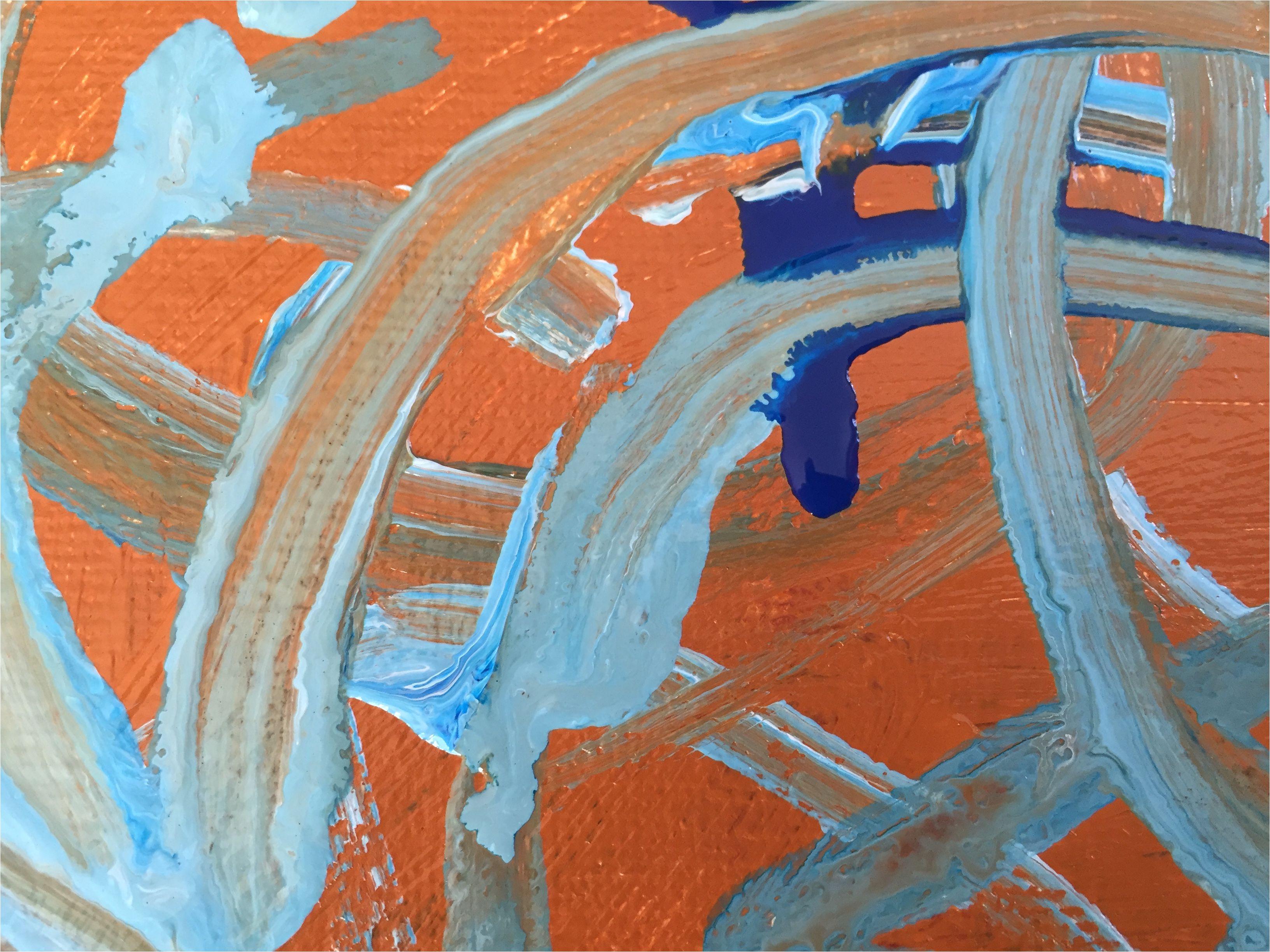 drips of fluid acrylic paint
