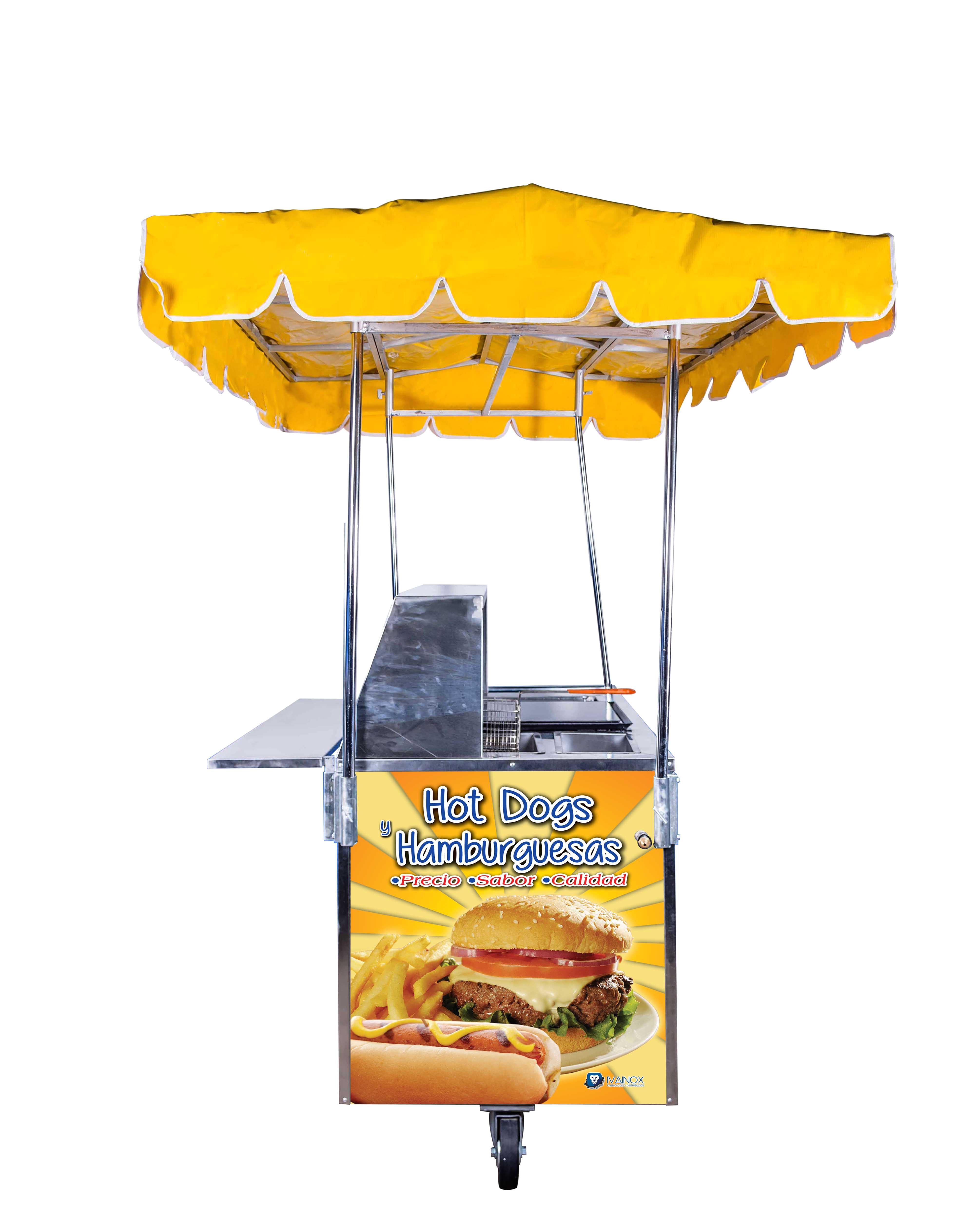 carrito para hot dog y hamburguesas chg 124