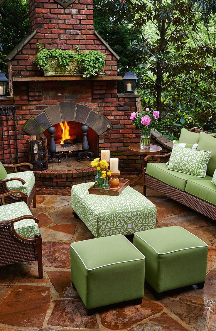 outdoor living cozy outdoor space ottomans and poufs are a great way to add a pop of color and provide extra seating