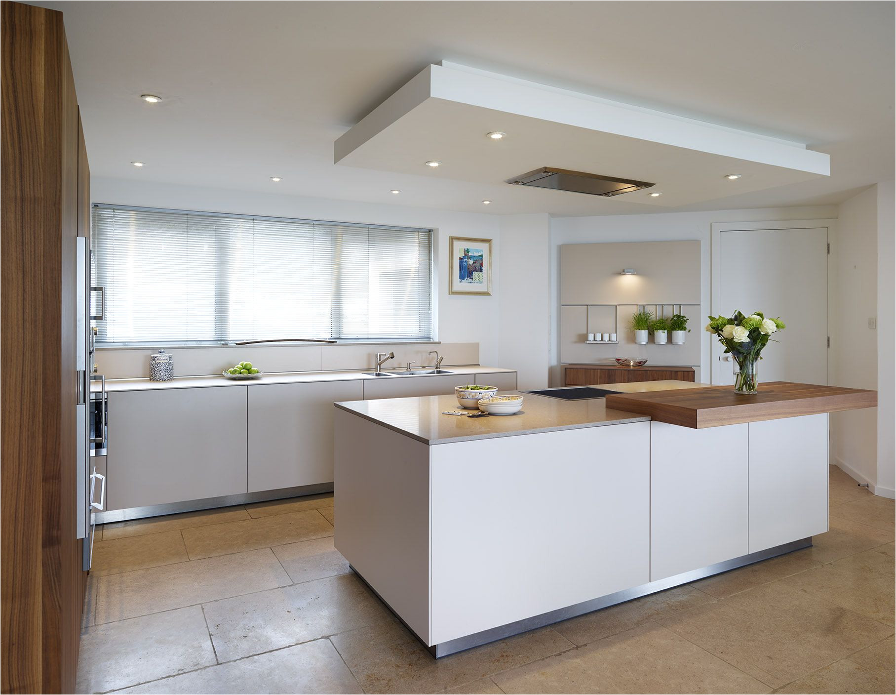 Ceiling-mounted Recessed Kitchen Vents the Drop Ceiling Creates A Flush Fit Extractor Above the Central