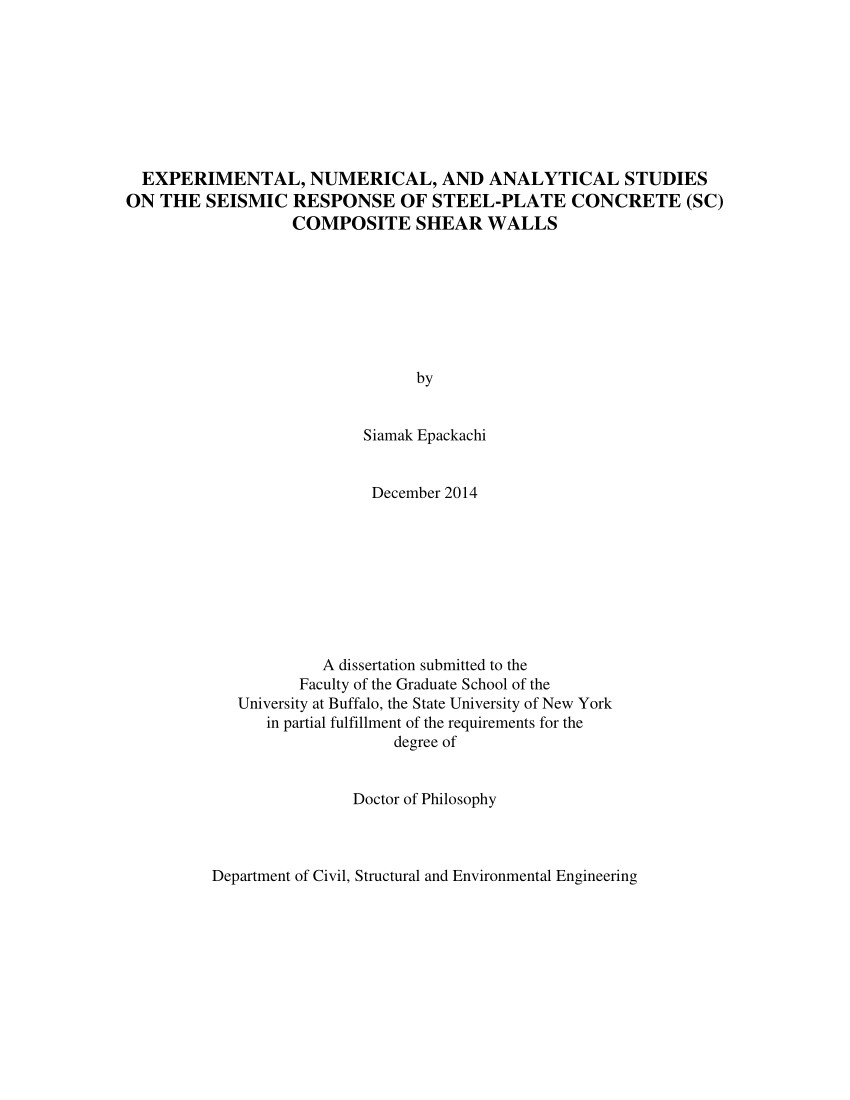 pdf experimental numerical and analytical studies on the seismic response of steel plate concrete sc composite shear walls