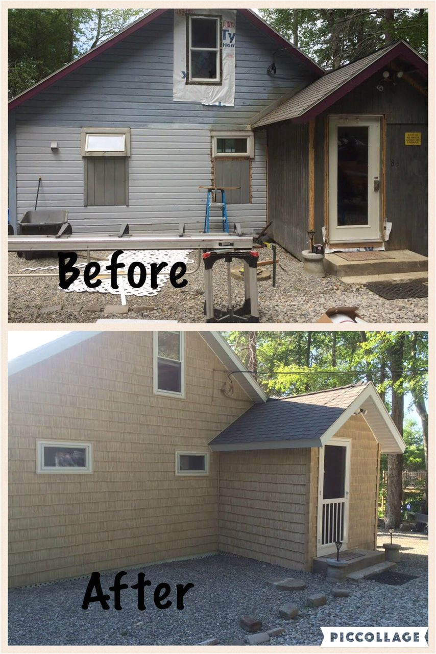 what an amazing difference this foundry 7 staggered shake in color 806 golden straw made we love the foundry vinyl shake siding