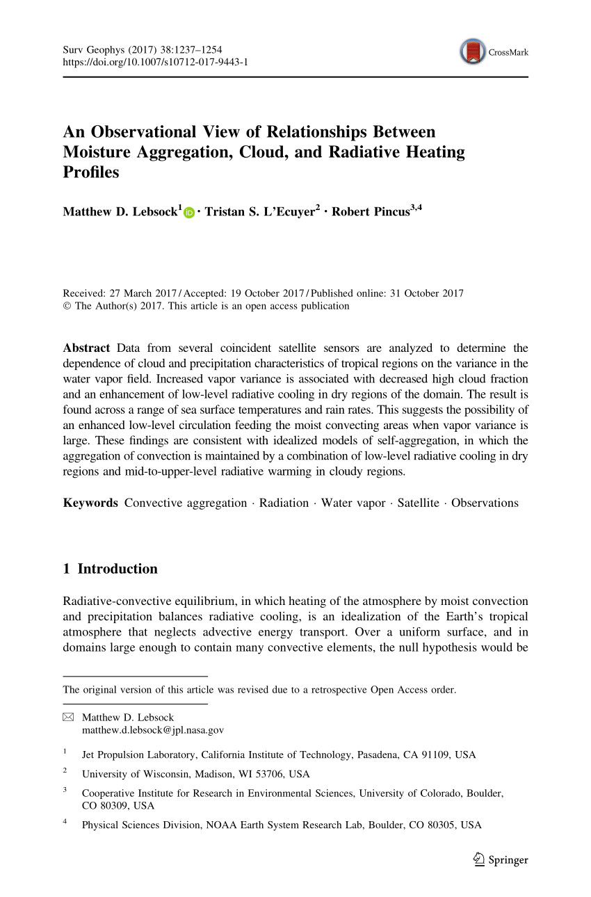 pdf a global assessment of the spatial distribution of precipitation occurrence