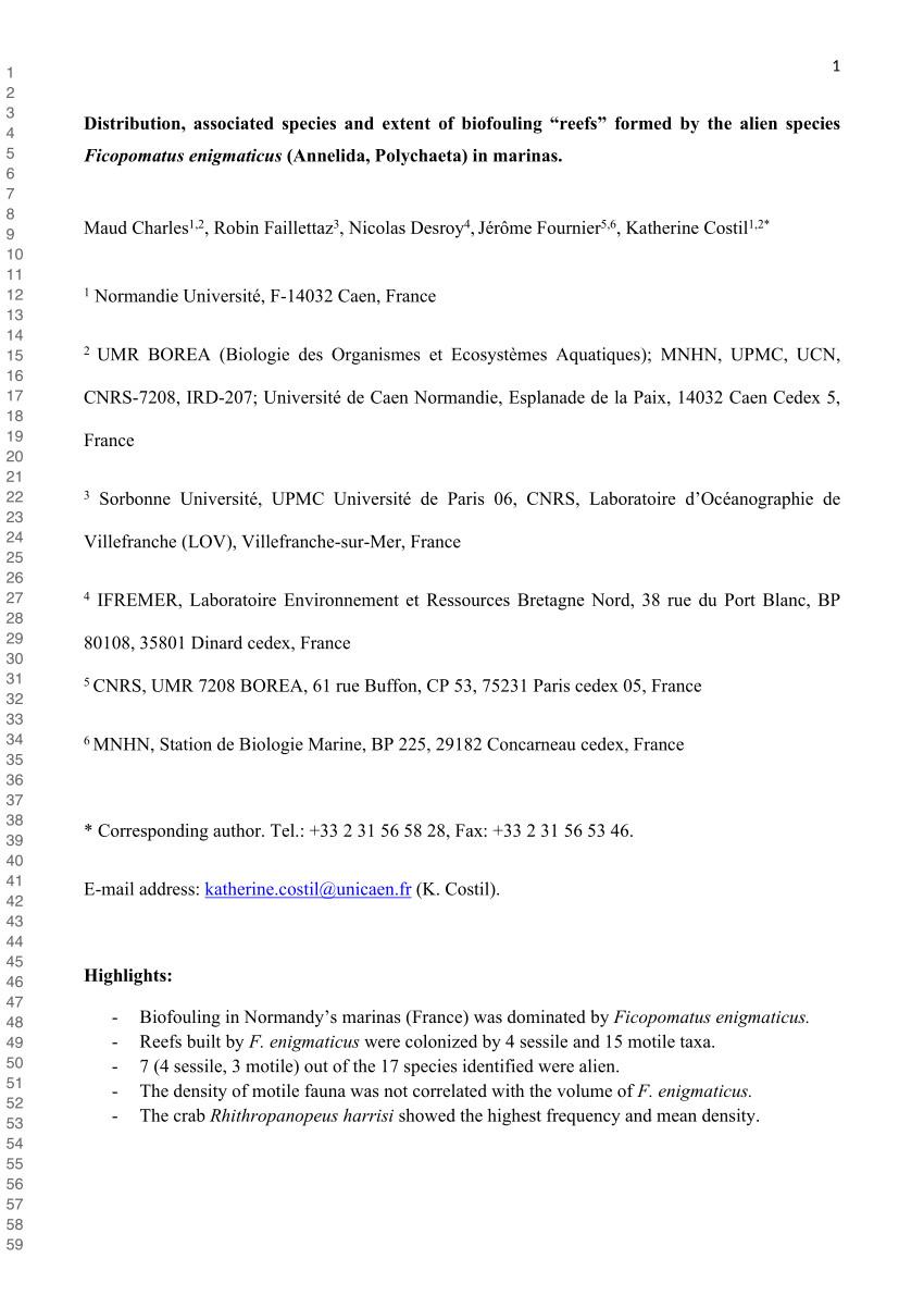 pdf mytilopsis leucophaeata the brackish water equivalent of dreissena polymorpha a review