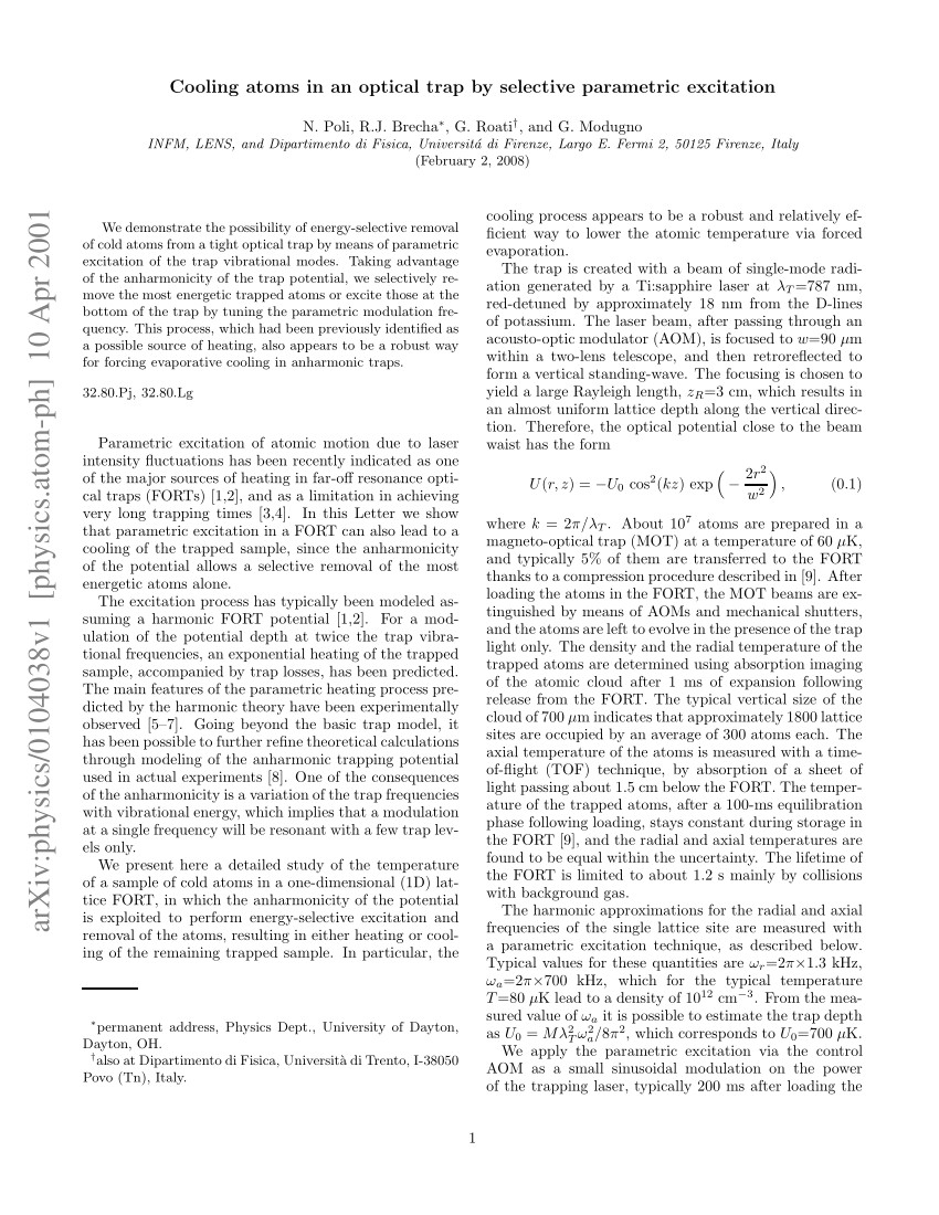 pdf very long storage times and evaporative cooling of cesium atoms in a quasielectrostatic dipole trap