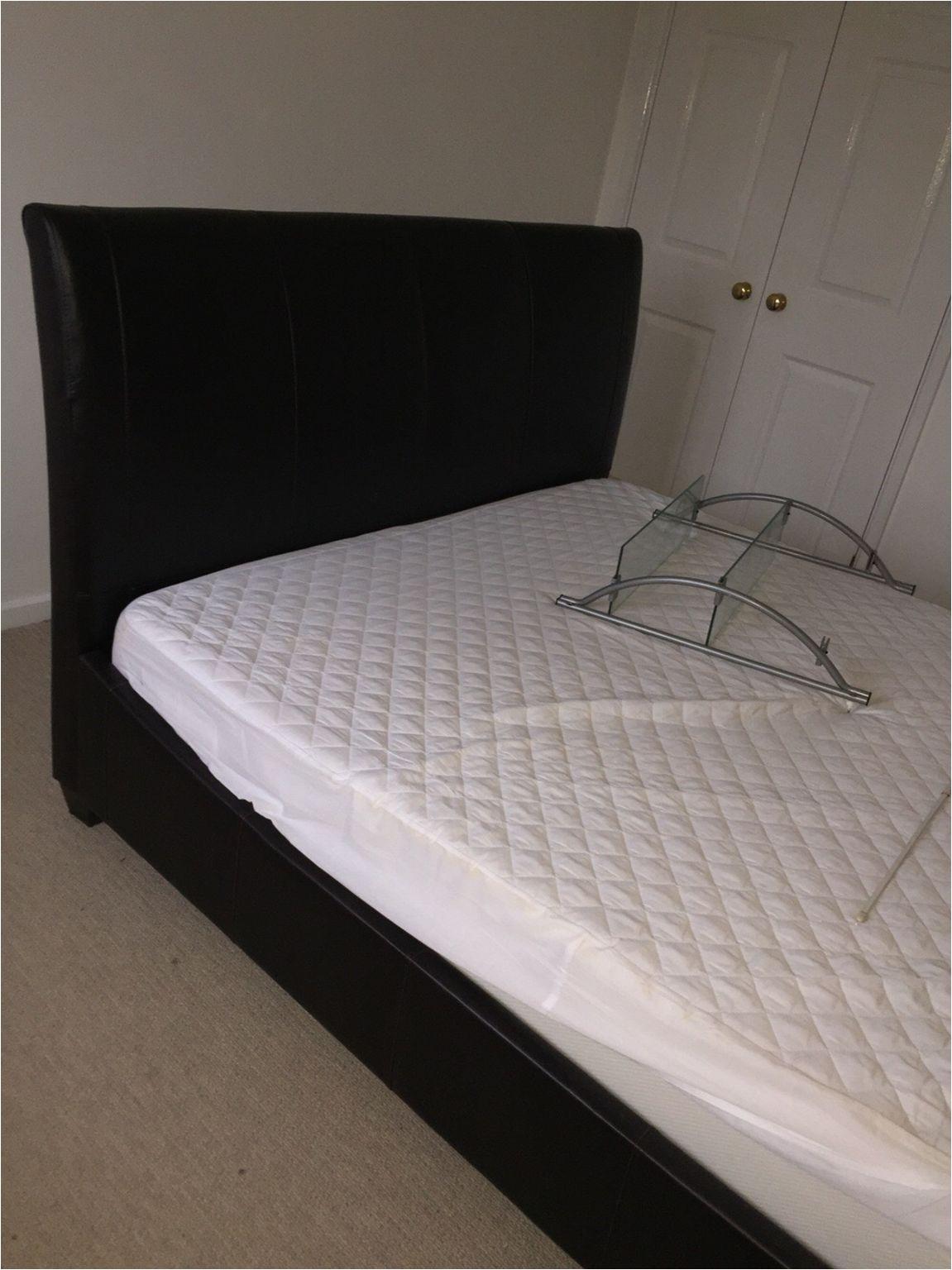 double leather bed black dark brown jpg