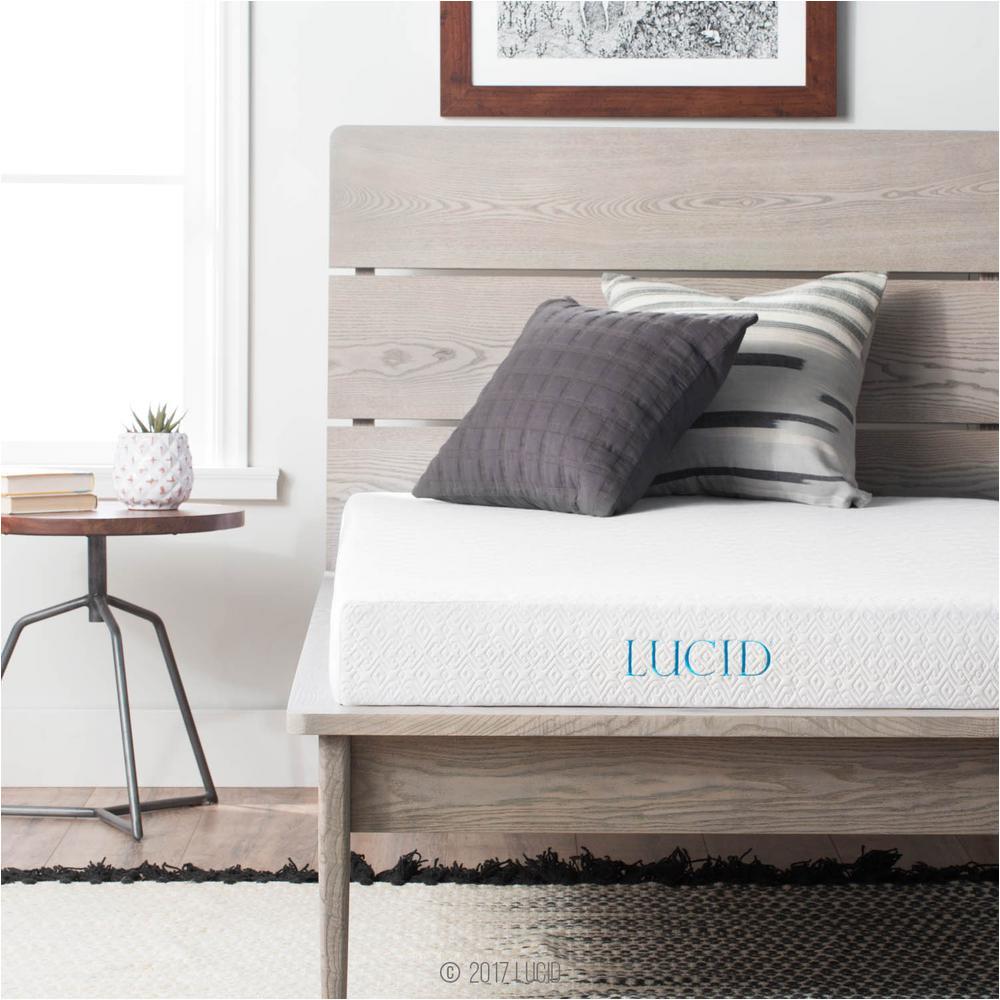 twin size dual layered gel memory foam mattress