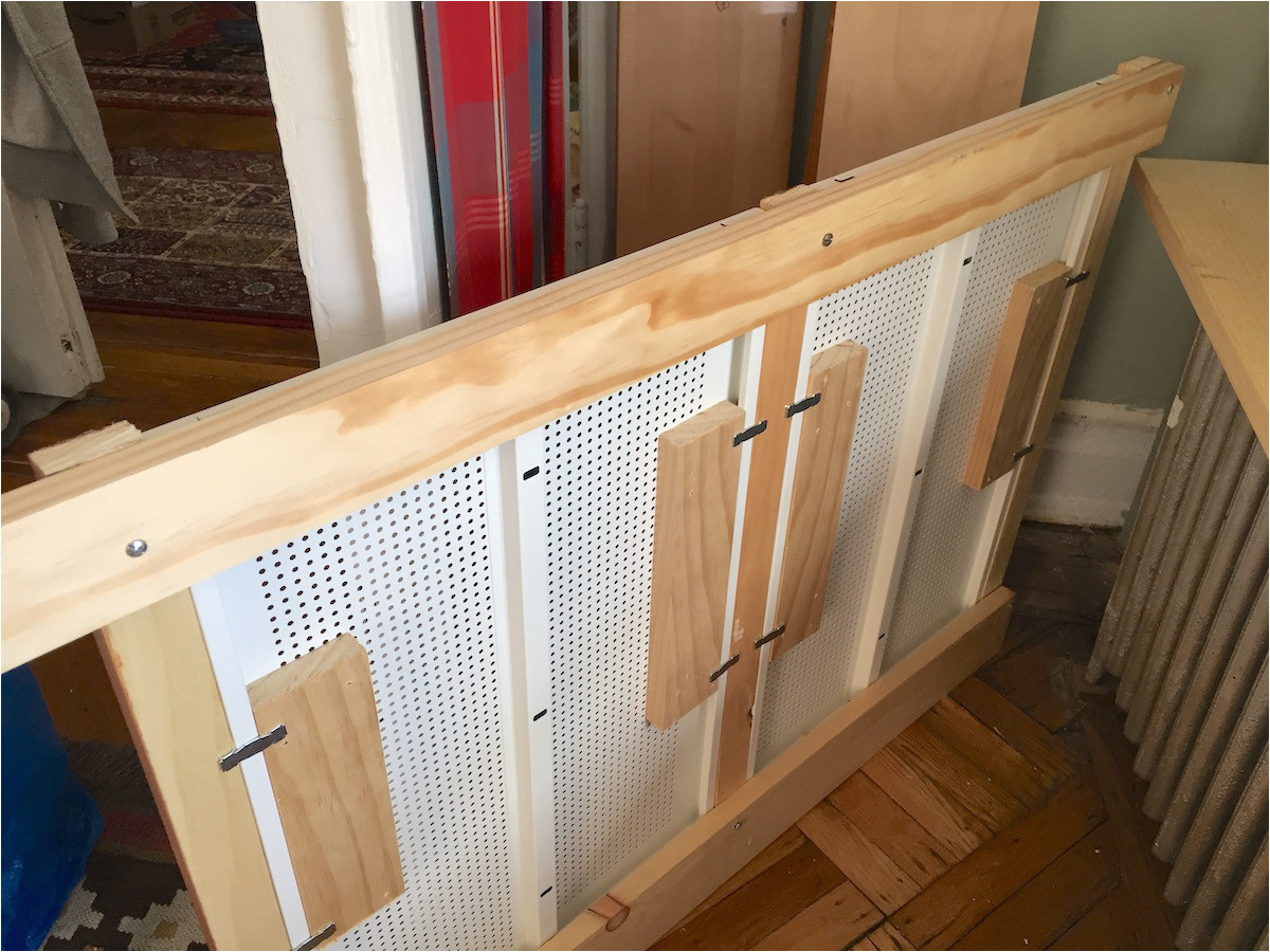 wood frame to hold the shelves together the algot radiator cover ikea hackers