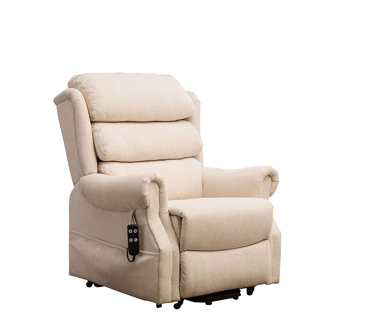oriental leather co ltd salisbury dual motor riser recliner arm chair in beige fabric amazon co uk health personal care