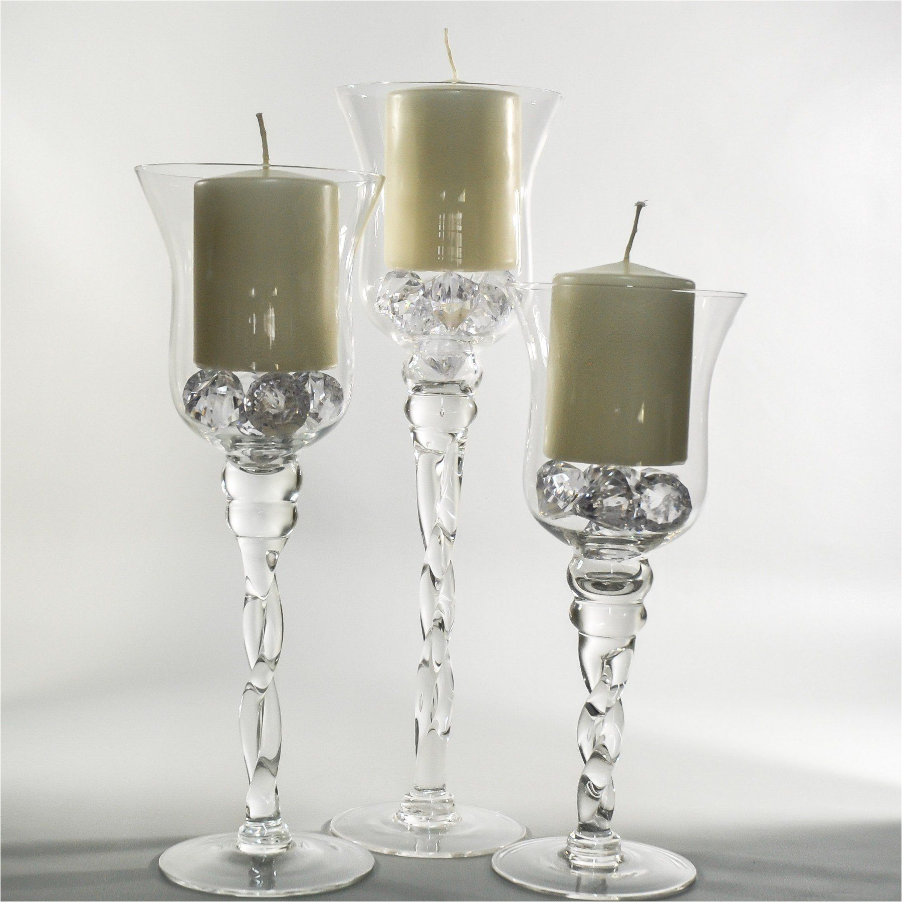 twisted clear glass vase candle holder 15 7 wholesale flowers and supplies