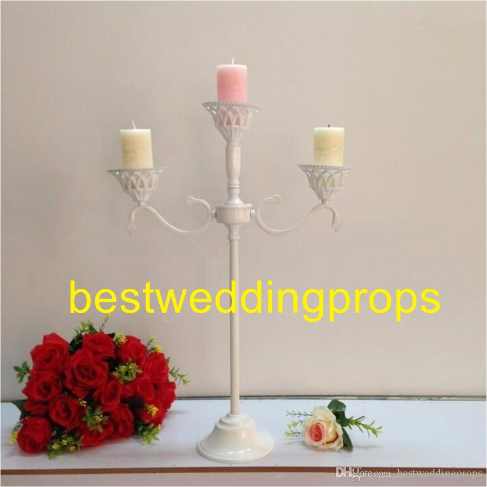 white metal candle holders flower vase rack candle stick wedding table centerpiece event road lead candle stands best0317 western party decorations western