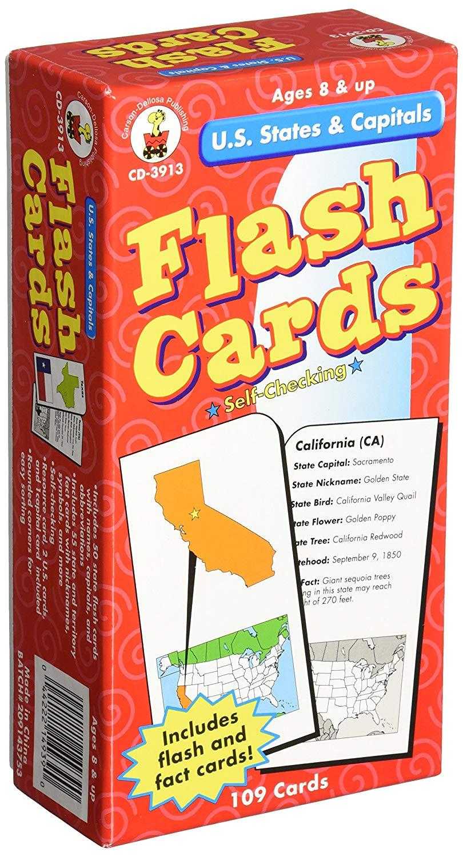 amazon com carson dellosa publishing u s states and capitals toys games