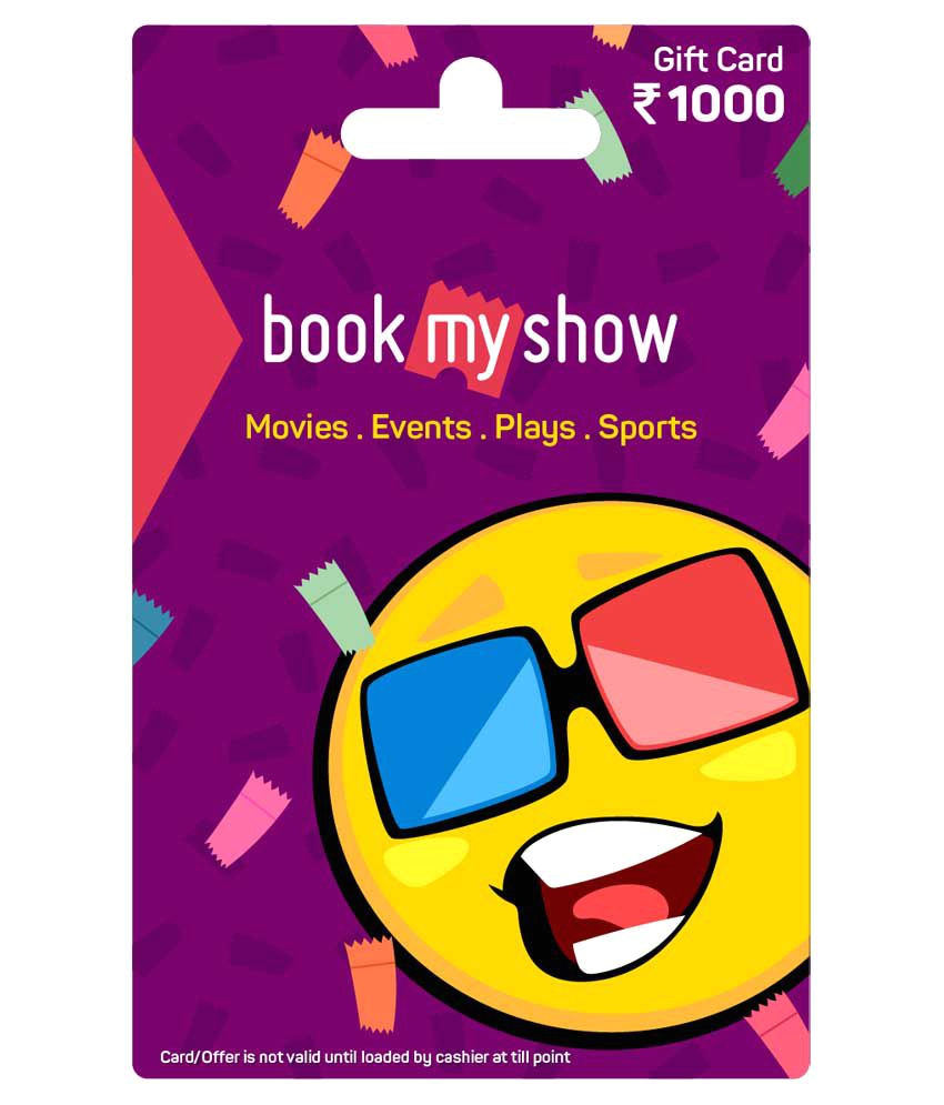book my show card rs 1000