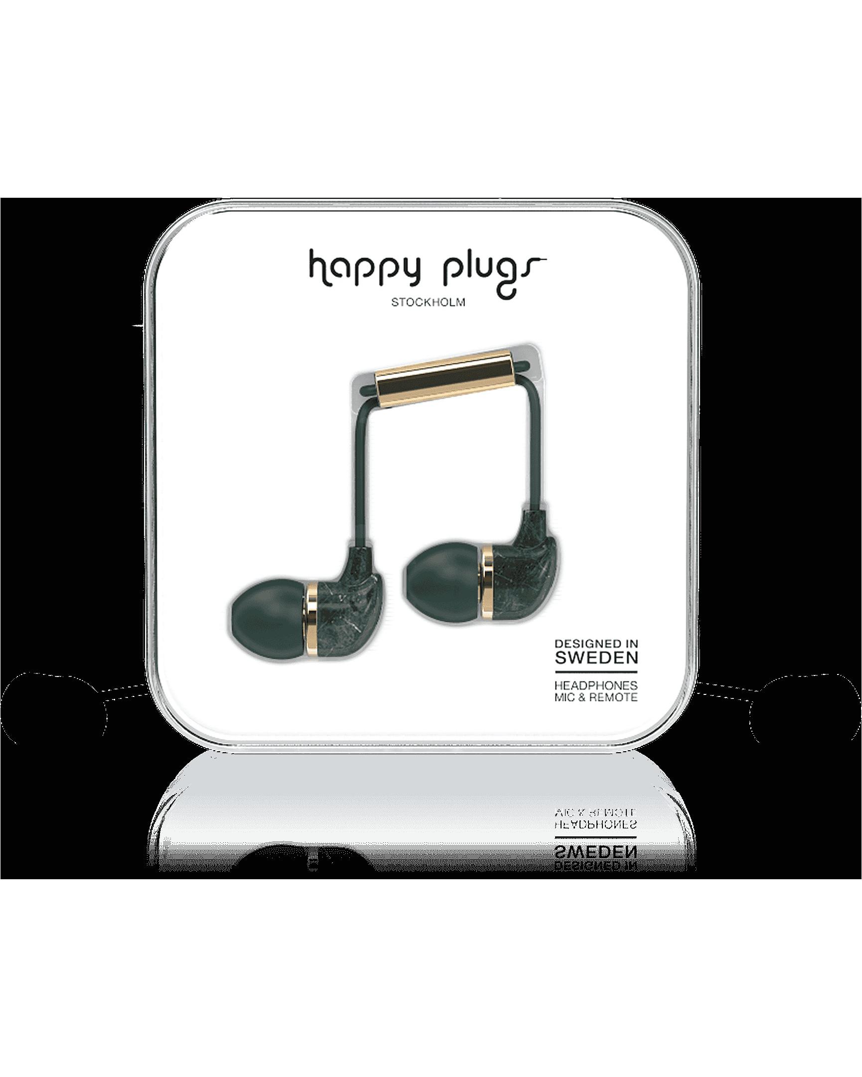 deluxe green in ear headphones
