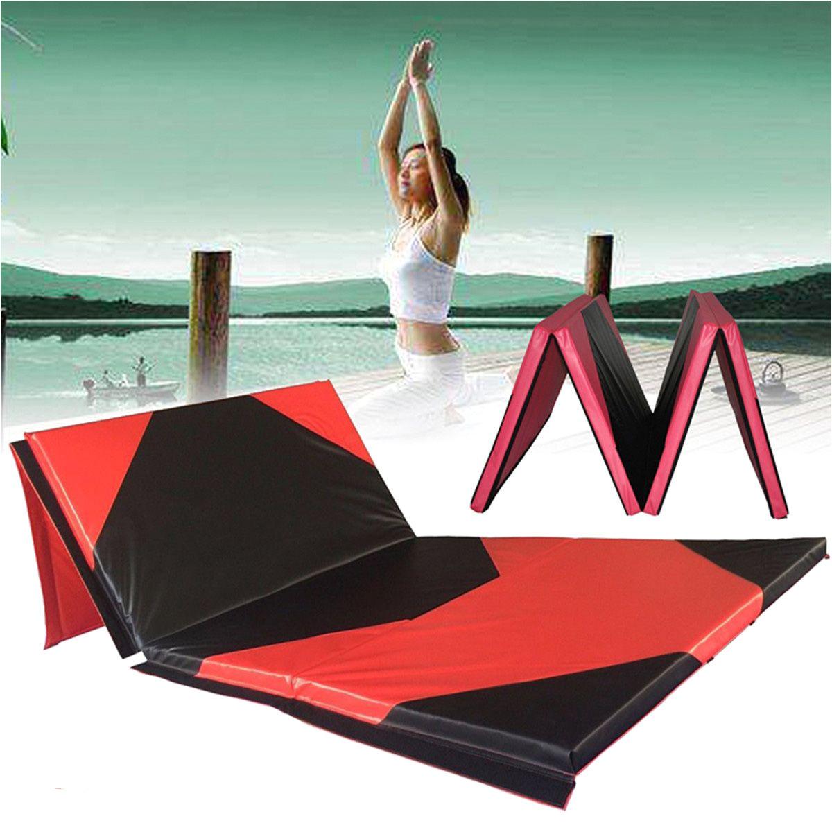 118x47x1 97inch gimnasia mat gym panel plegable yoga ejercicio tumbling aptitud pad