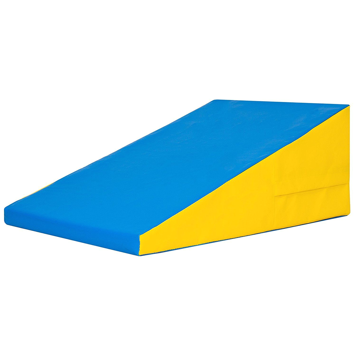 best choice products incline gymnastics mat training foam triangle gym tumbling wedge blue yellow awesome product click the image weight loss