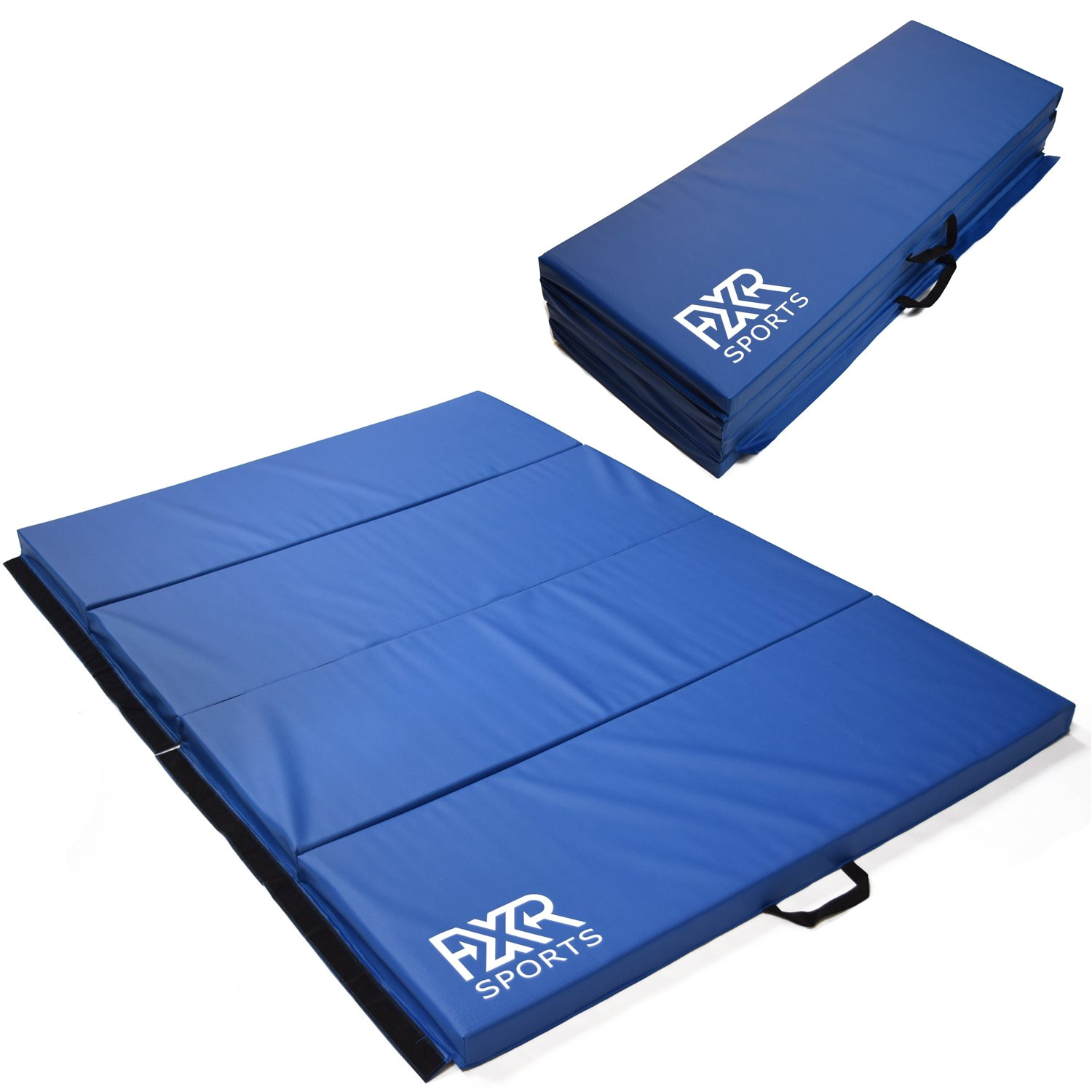 fxr sports 6ft 8ft four folding gymnastics exercise physio training fitness mats 2 amazon co uk sports outdoors