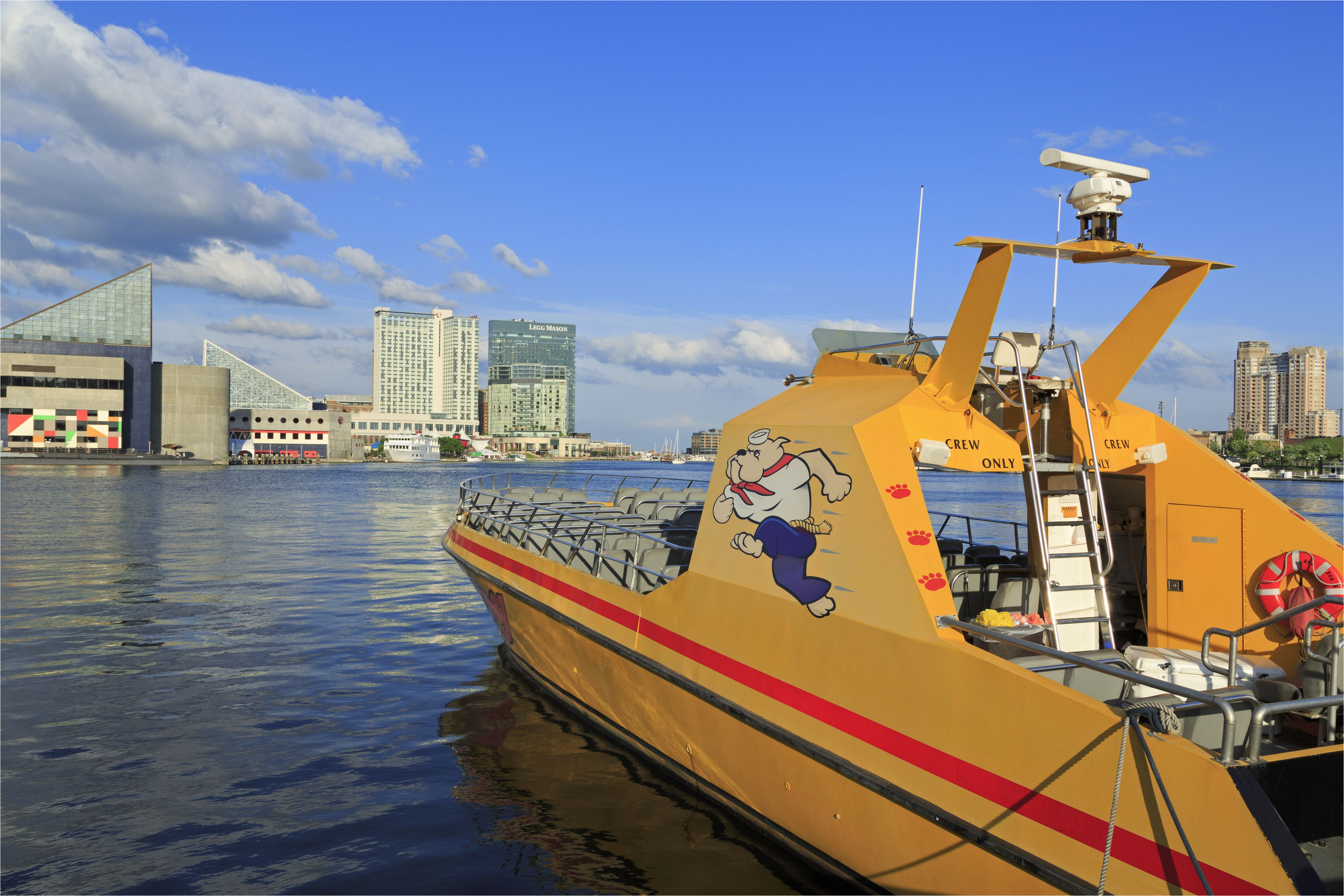 tour boat in the inner harbor baltimore maryland