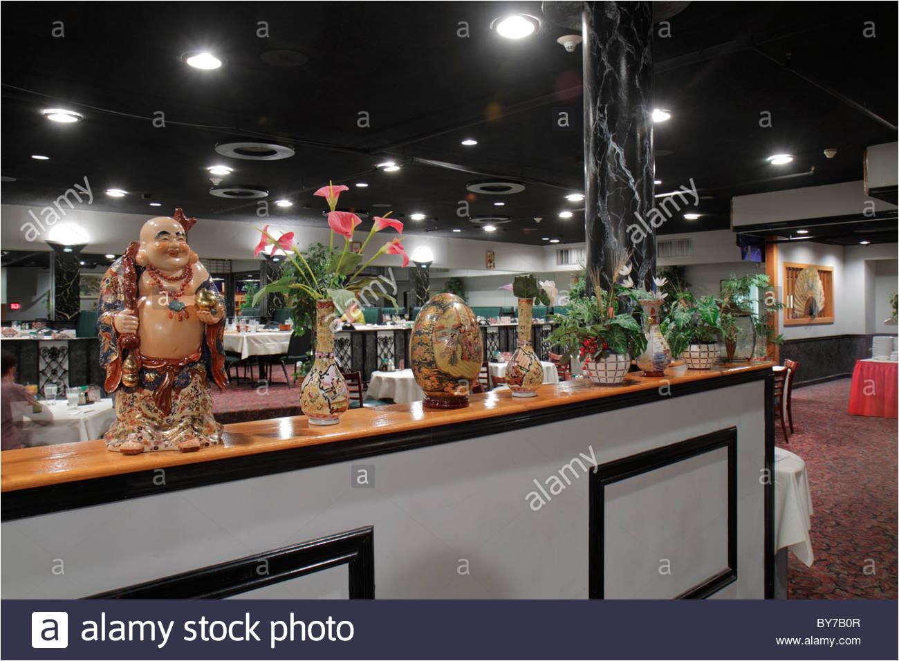 atlanta georgia mandarin house ii chinese restaurant asiatische kuche dekor buddha mann business essen stockbild