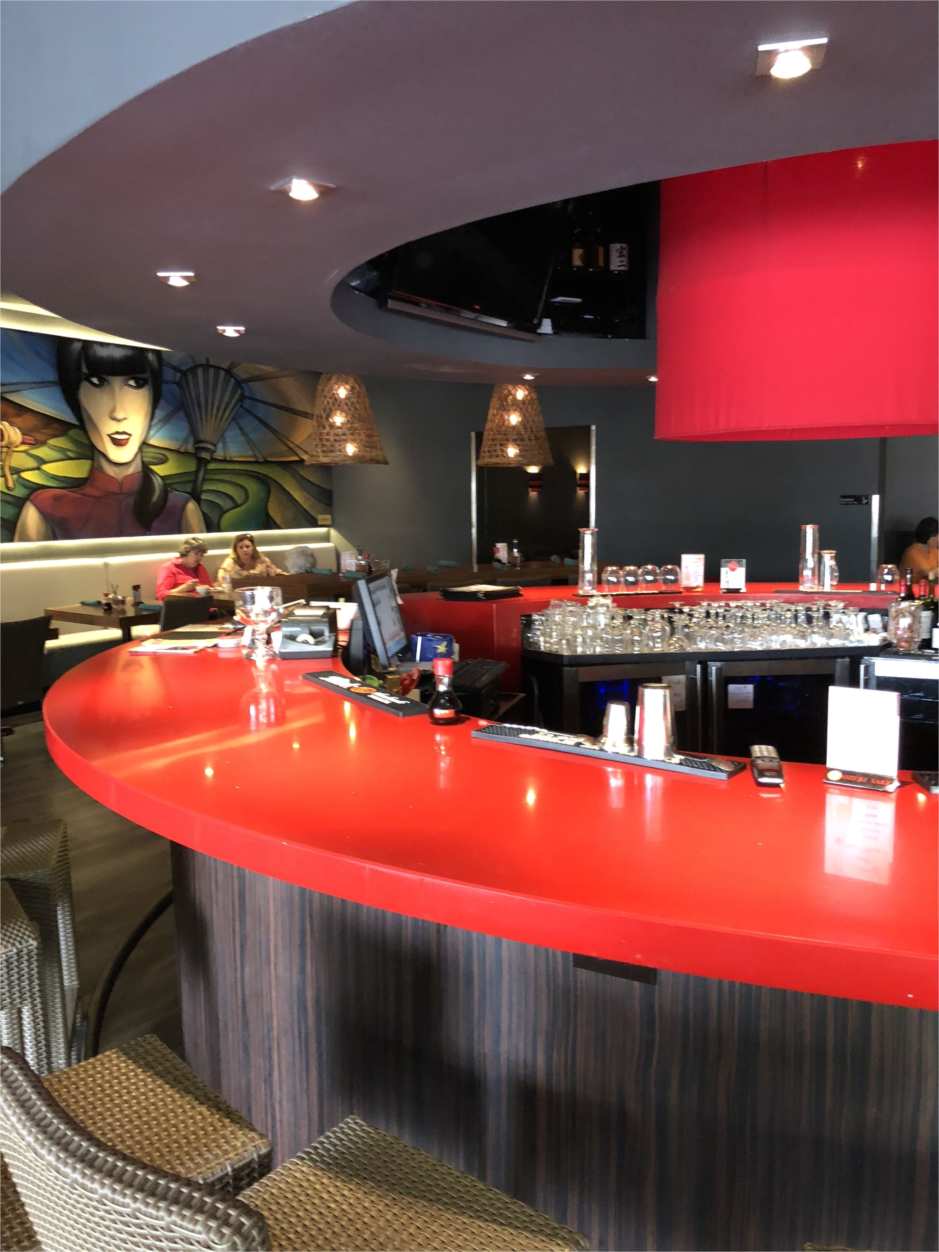 this circular bar in a chinese restaurant is a good example of the