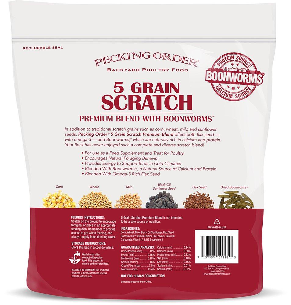 amazon com pecking order boonworm treats 5 grain scratch 12 lb garden outdoor
