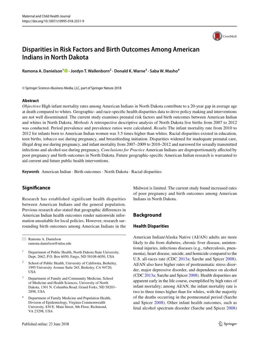 pdf american indian health disparities psychosocial influences