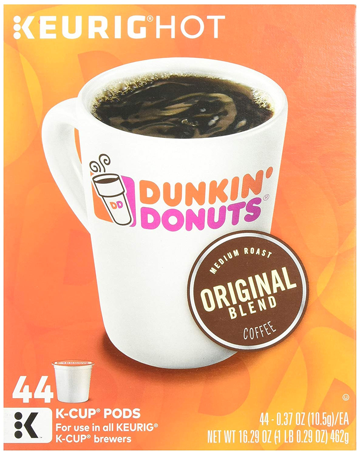 dunkin donuts original blend k cup pods 44 cups amazon com grocery gourmet food