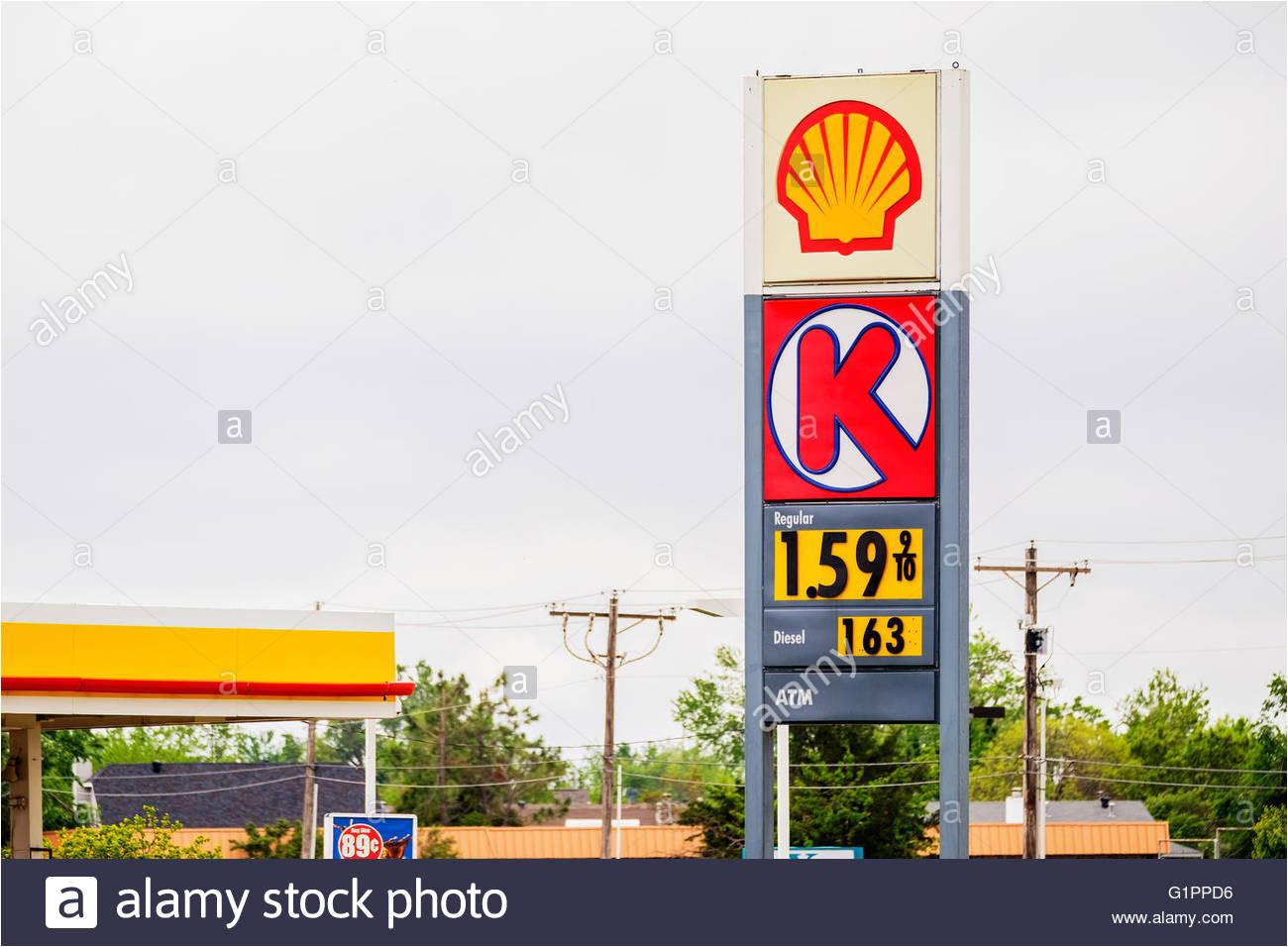 a circle k unterzeichnen vor einem supermarkt auf der route 66 in yukon oklahoma