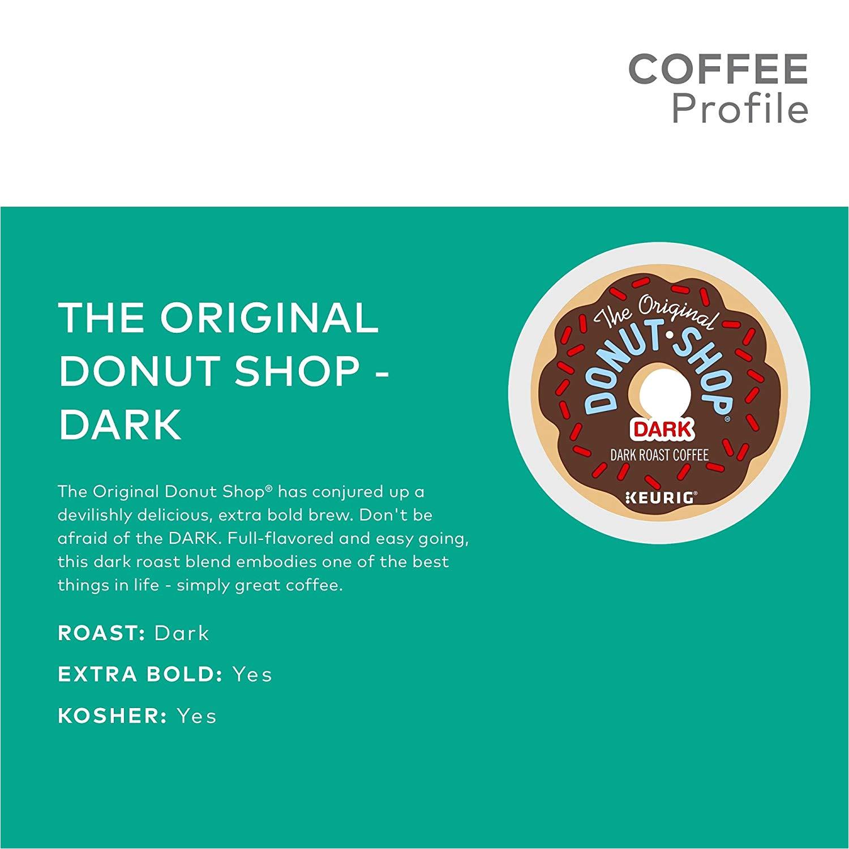 the original donut shop keurig single serve k cup pods dark roast coffee 72 count amazon com grocery gourmet food