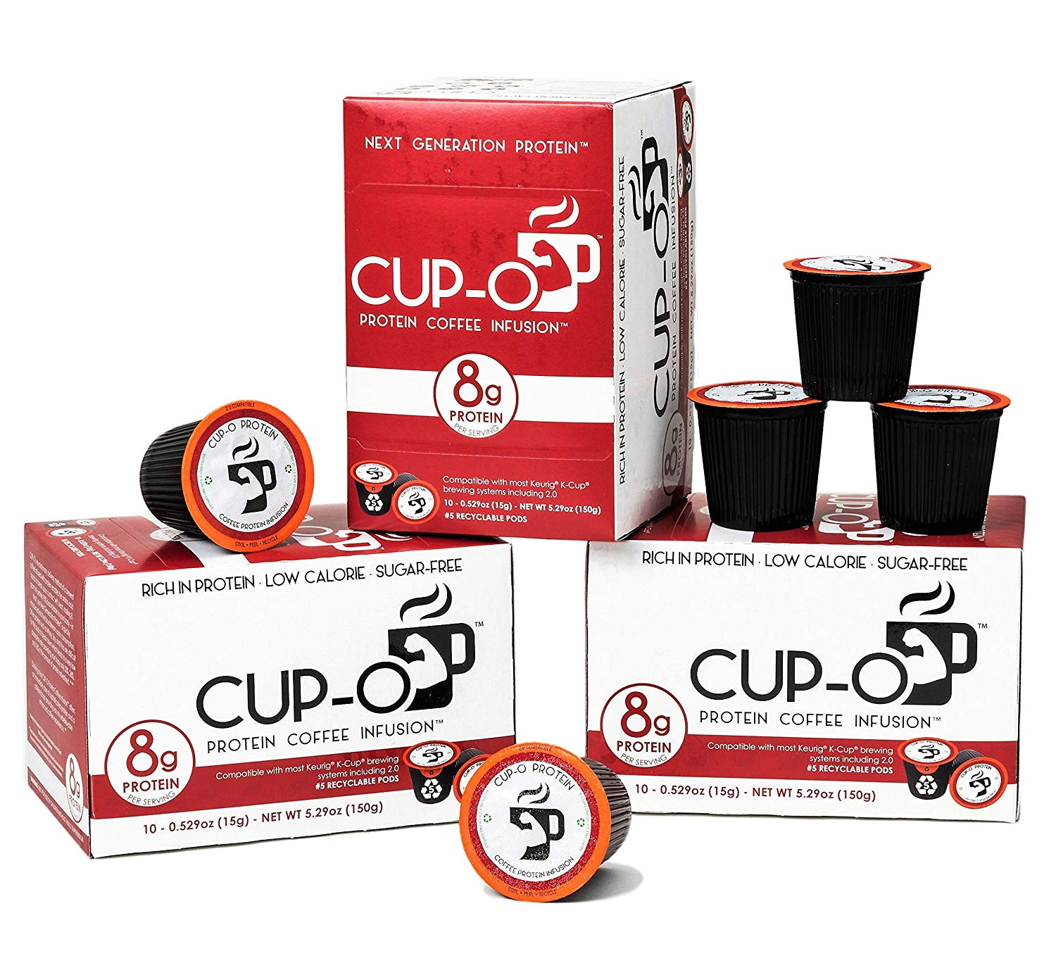 cup o protein coffee infusion 10 count collagen protein coffee pods k cup premium collagen protein 100 arabica coffee beans amazon com grocery