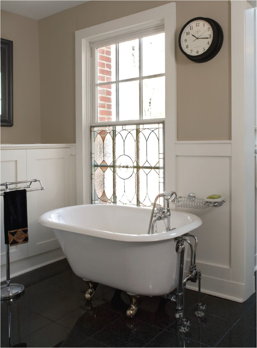 Clawfoot Tub for Small Bathroom Stained Glass Window In Shower Stained Glass Over the Clawfoot Tub