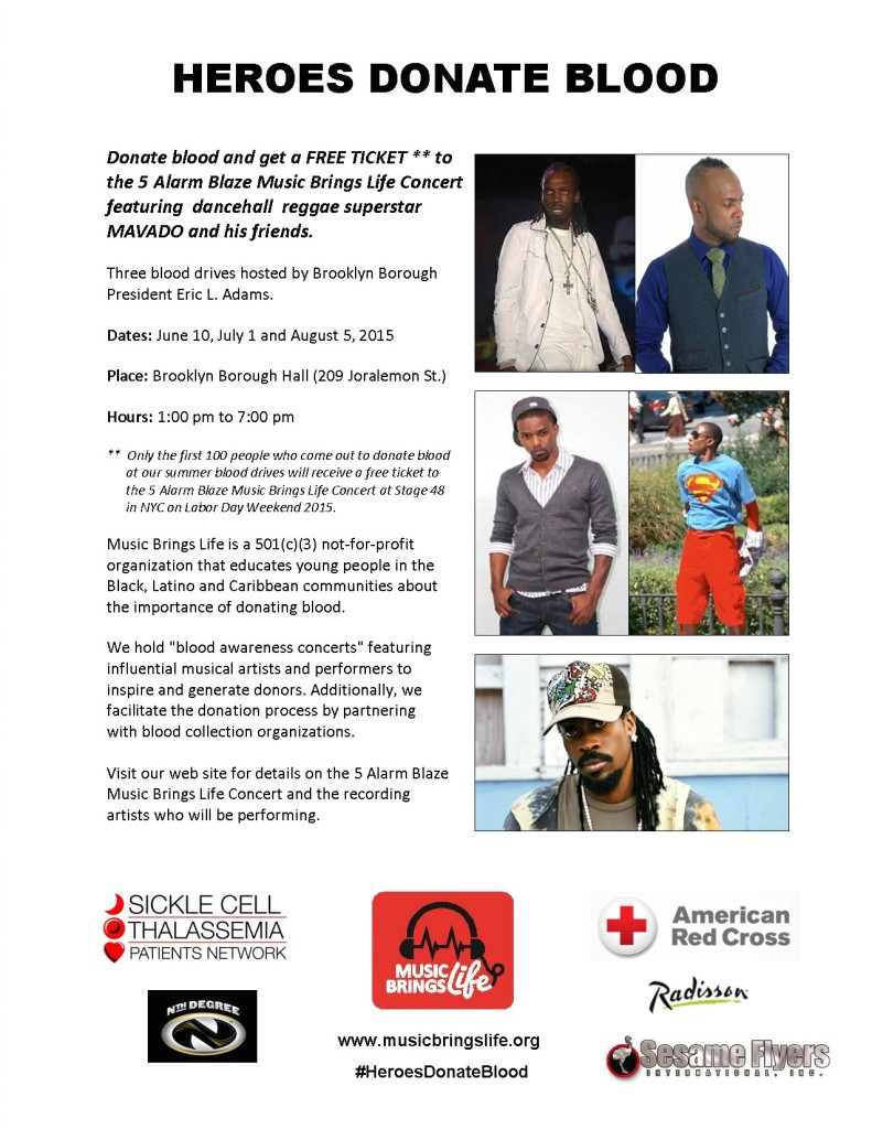 5 alarm blaze music brings life blood drive flier posted in blog announcements