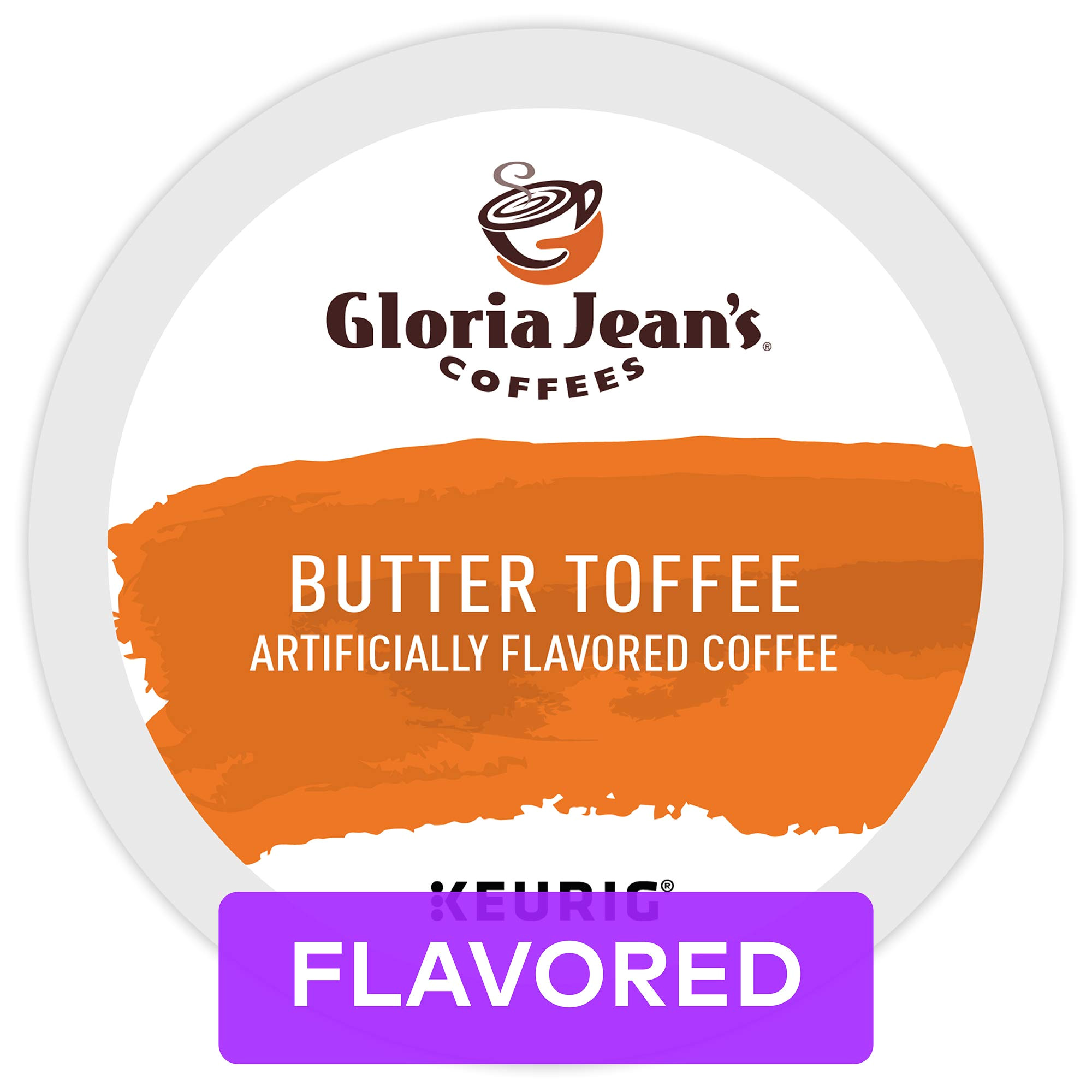 gloria jean s coffees butter toffee single serve coffee k cup pod flavored coffee