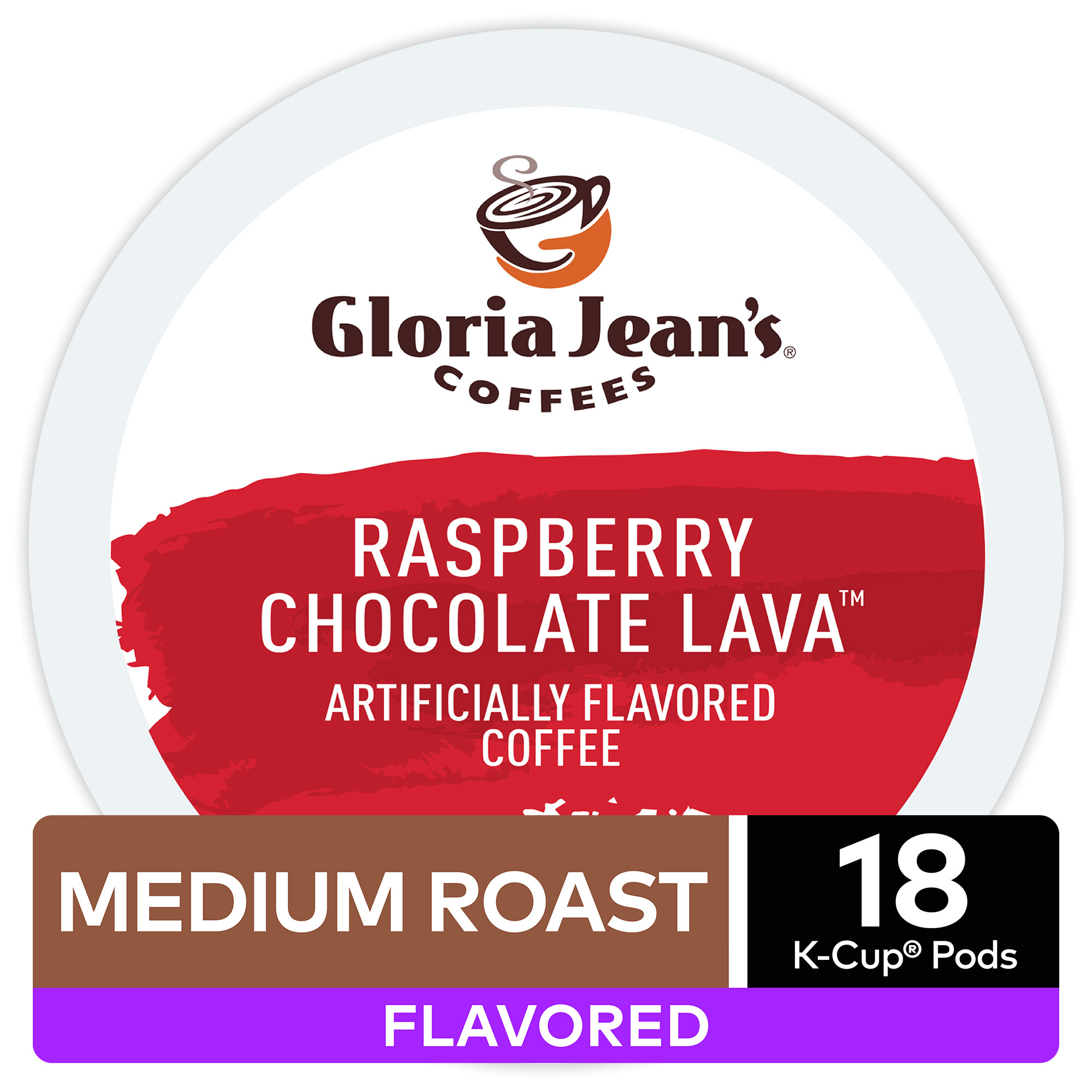 gloria jean s raspberry chocolate lava flavored coffee keurig k cup pods light roast 18 count walmart com