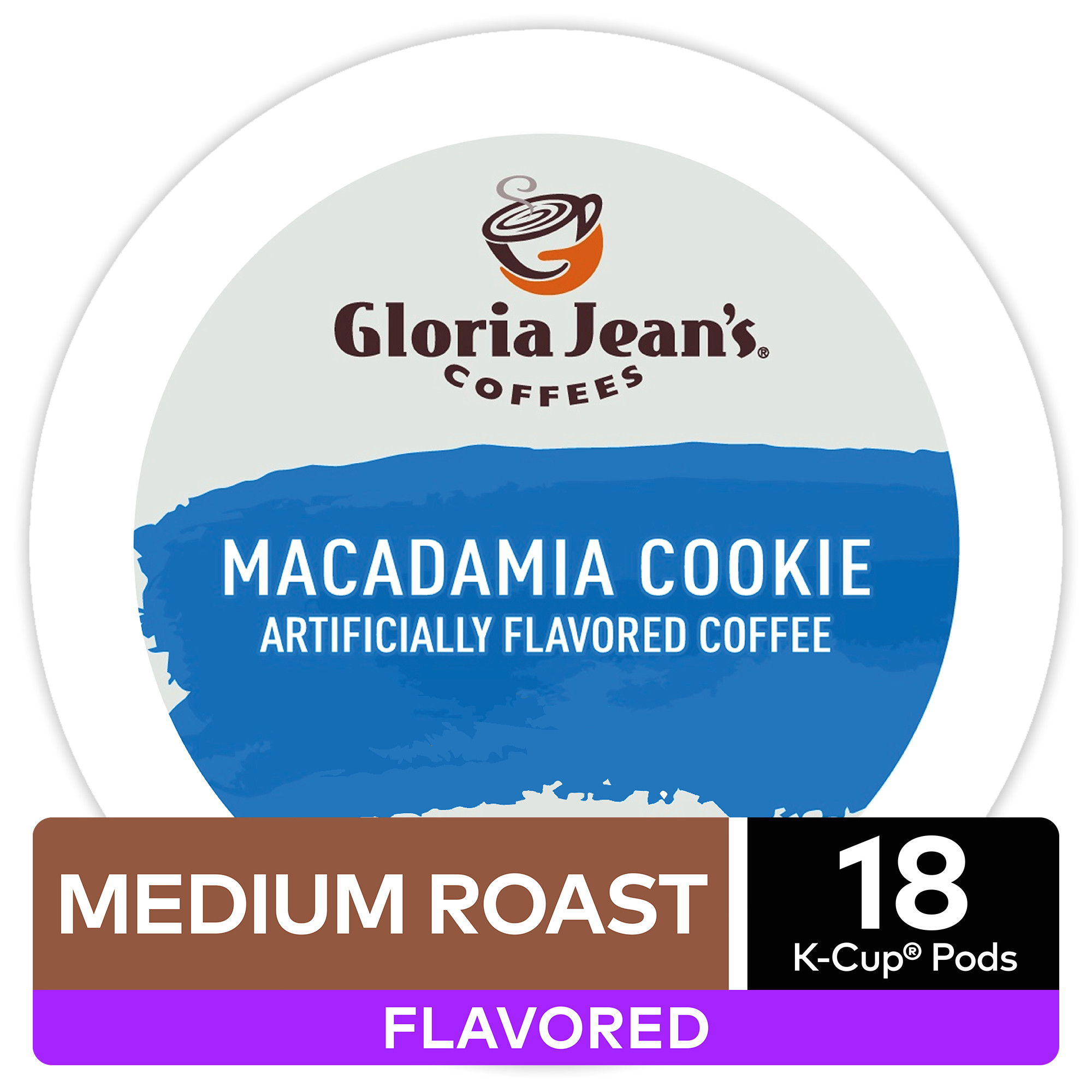 gloria jeans coffees macadamia cookie flavored coffee keurig k cup pods medium roast 18 count walmart com