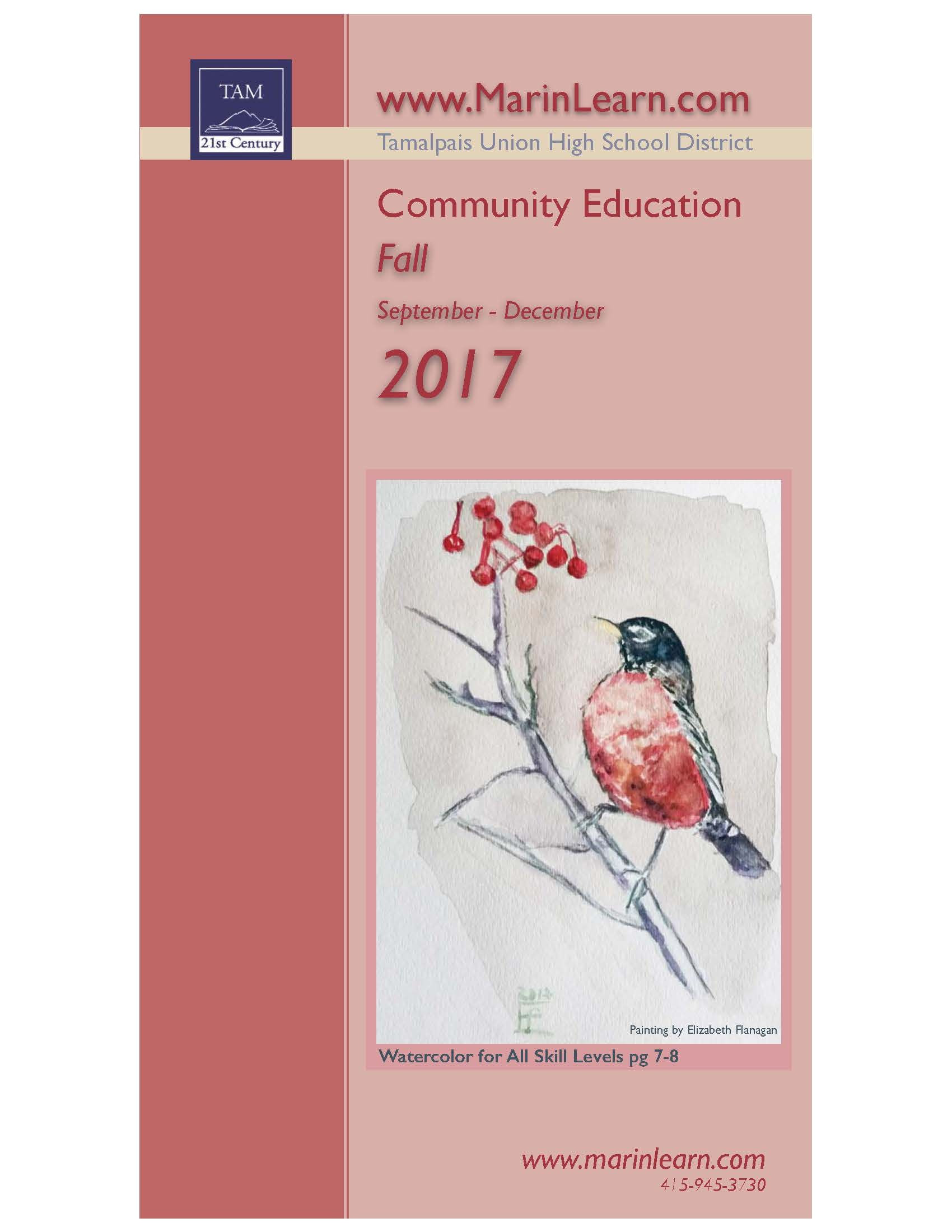2017 fall catalog with a painting by elizabeth flanagan