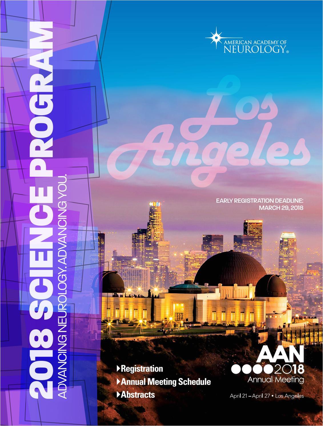 2018 aan annual meeting science program by american academy of neurology issuu
