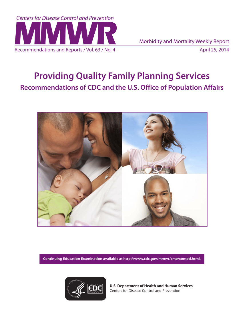pdf providing quality family planning services recommendations of cdc and the u s office of population affairs