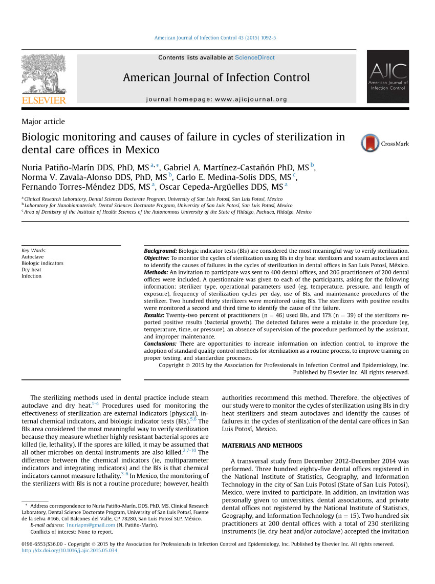 College Of Marin Dental assisting Program Pdf the assessment Of Infection Control In Dental Practices In the