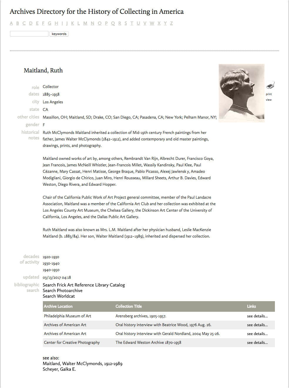 abb 3 the frick collection maitland ruth in archives directory for