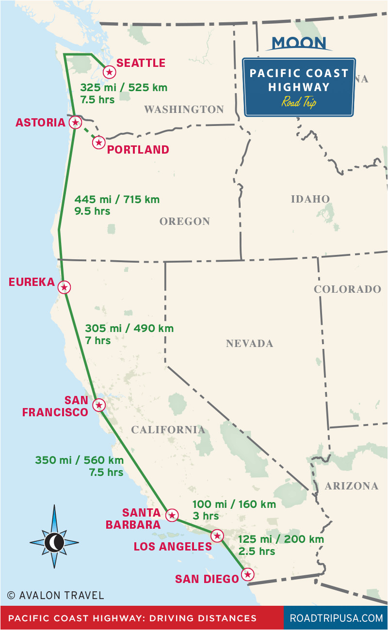 pacific coast highway driving distance map from moon pacific coast highway road trip travel guide