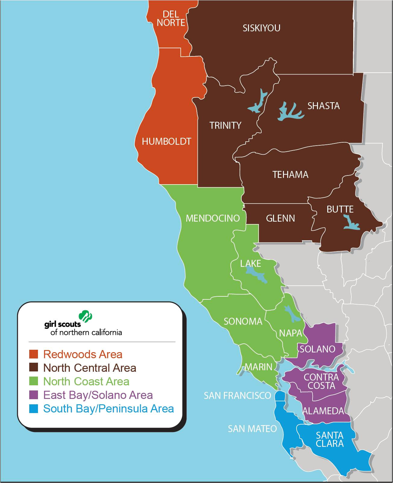 and 29 000 adult members in 19 counties in northern california which include alameda butte contra costa del norte glenn humboldt lake marin