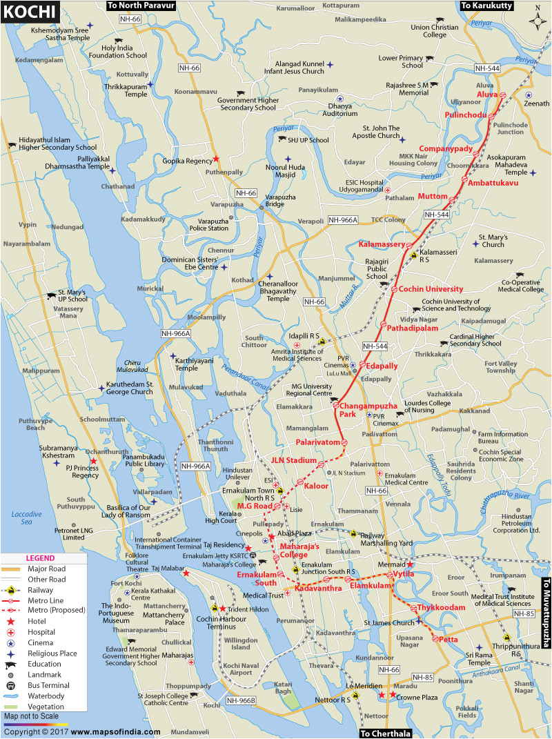 College Of Marin Maps and Directions Kochi City Map