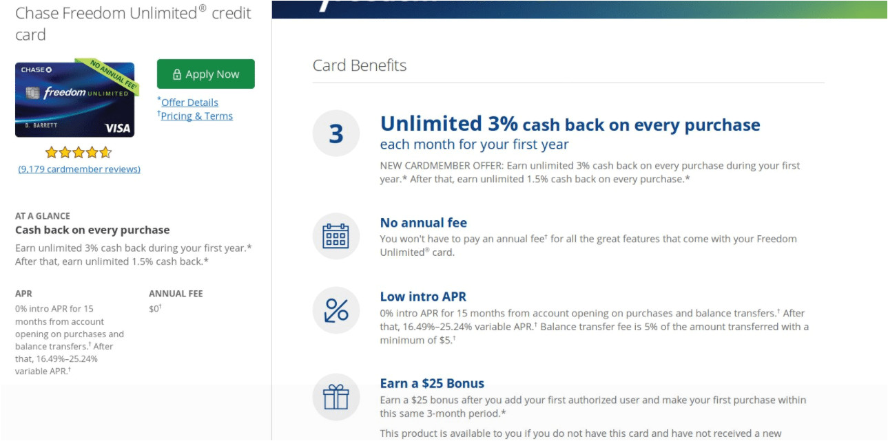 card also comes with a 0 introductory apr on purchases and balance transfers for the first 15 months 3 bt fee still applies