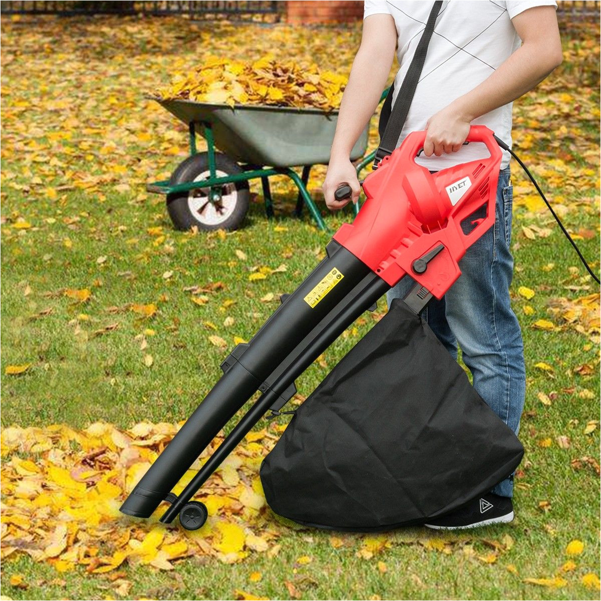 costway 3 in 1 electric garden grass leaf blower 2500w 230v vacuum shredder mulcher vac our leaf blower is ideal for keeping lawns patios and driveways