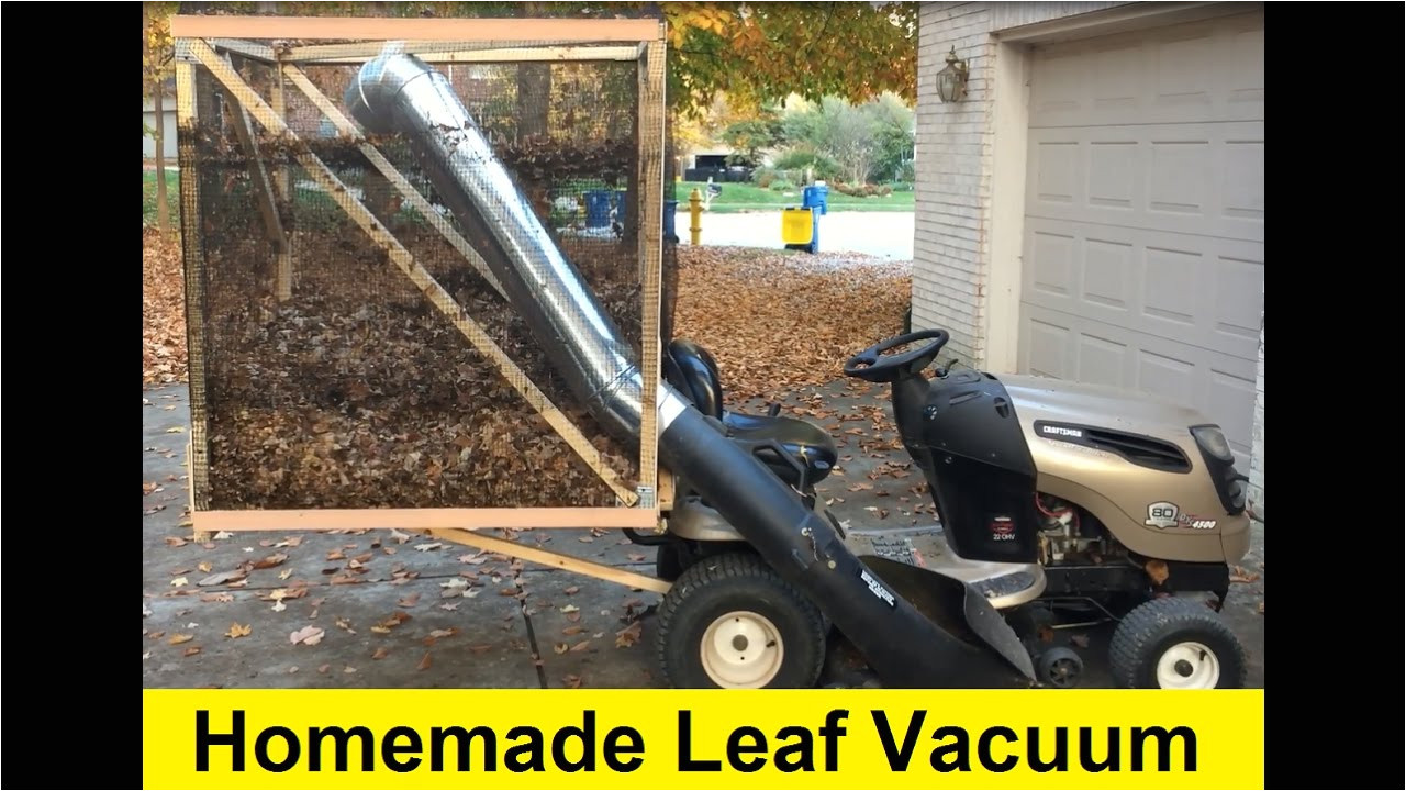how to build a homemade leaf vacuum for 50 diy