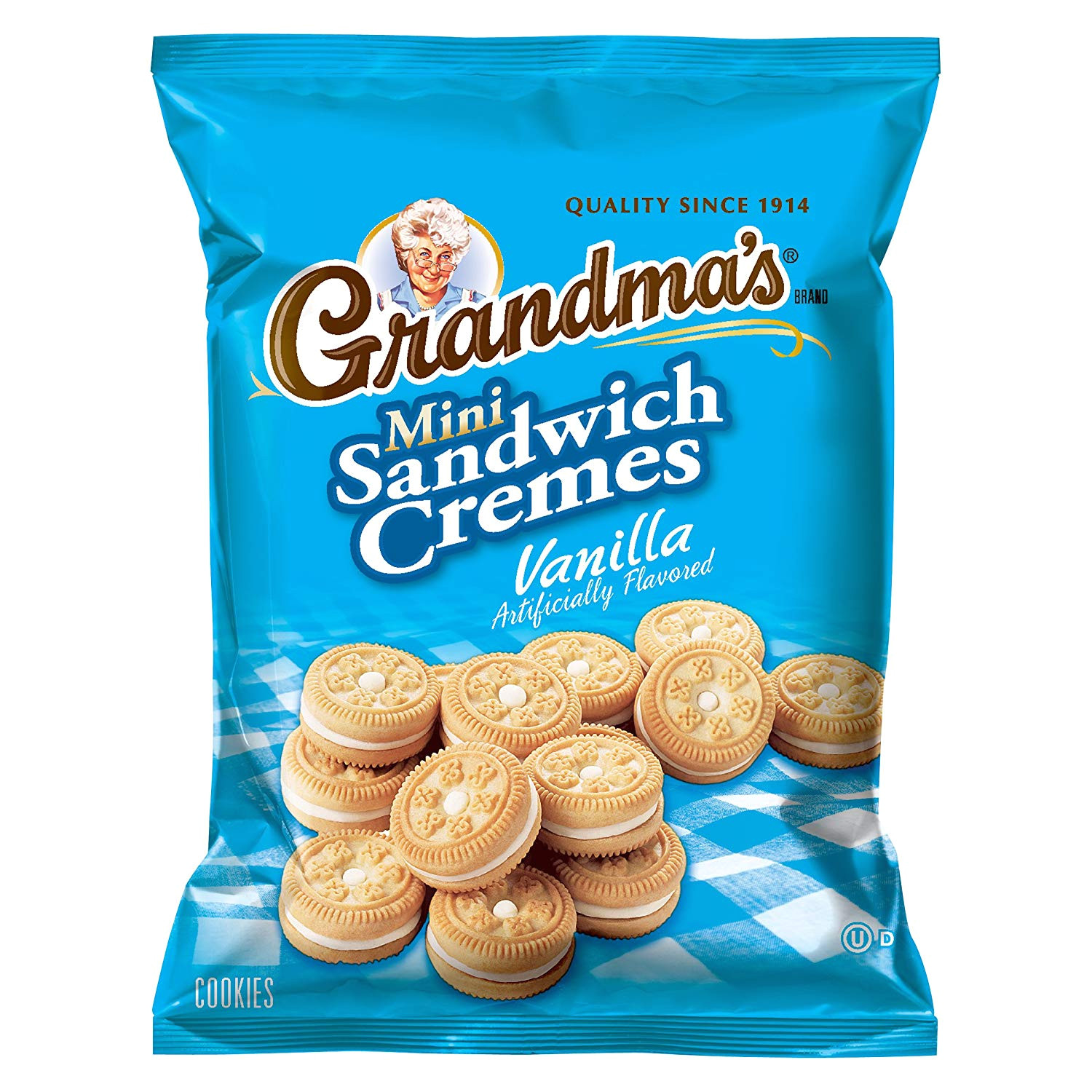 amazon com grandma s mini cookies vanilla cra me 3 71 ounce pack of 24