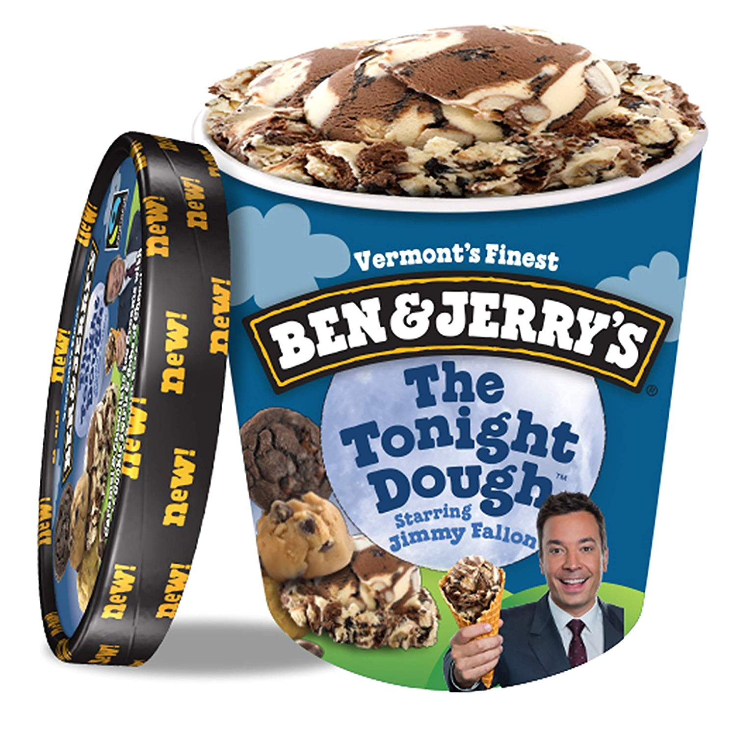 ben jerry s ice cream the tonight dough 16 oz amazon com grocery gourmet food