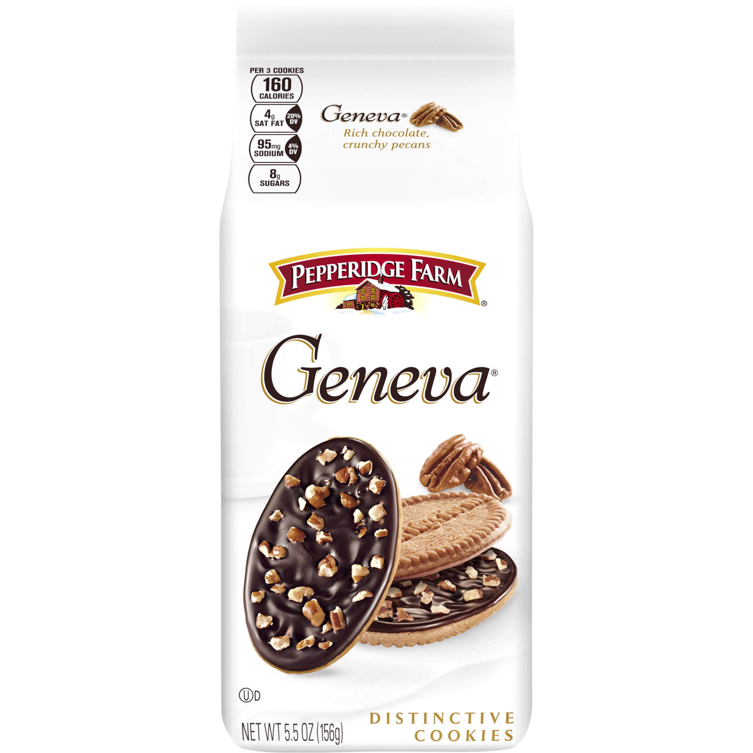 pepperidge farm geneva chocolate pecan covered cookies 5 5 oz bag walmart com